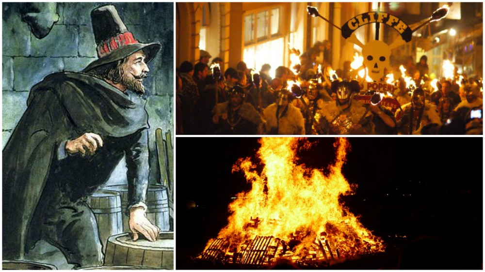 guy fawkes day collage