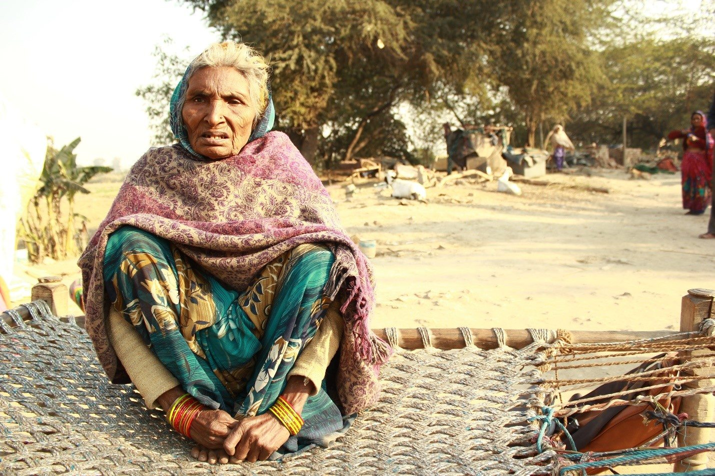 Rani Tai, 85, who has been living in Belagaon for the past 70 years spends most of her days in delirium talking about the day she briefly met Subhash Chandra Bose. Too old and frail to rebuild her house, she has been living with her relatives since the demolition happened.