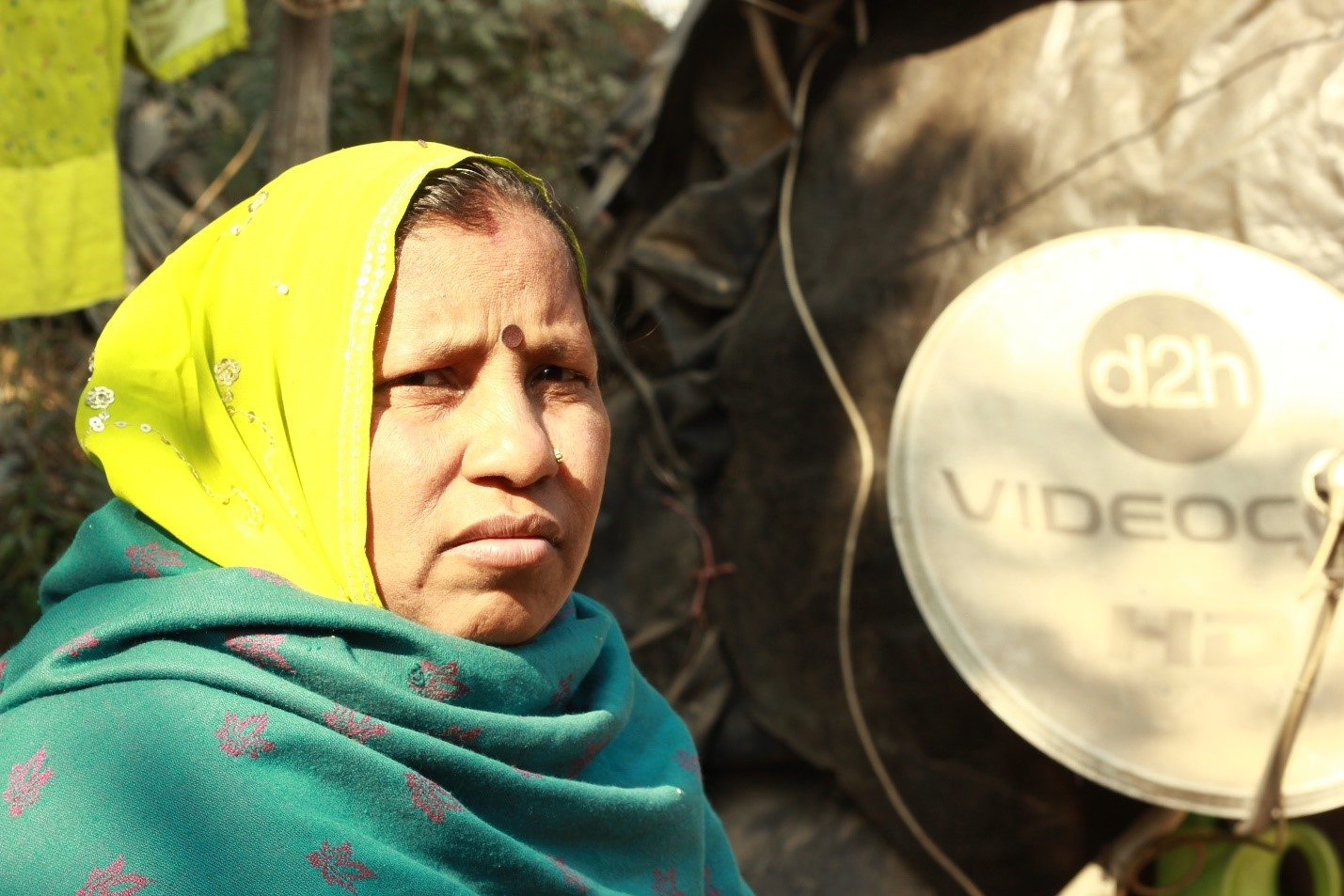"Jagwati has been living in Belagaon since the day she got married, 25 years ago. She is worried that she'll never be able to get her sons married as ""no family wants to wed their daughter into a family which lives under a tarpaulin sheet."""