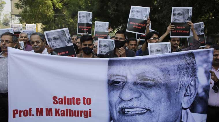 Dr Kalburgi murder protest