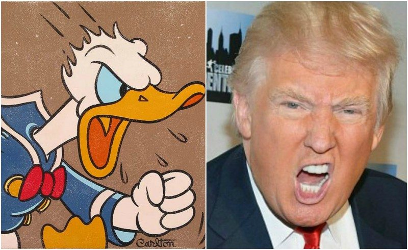 donald duck and trump