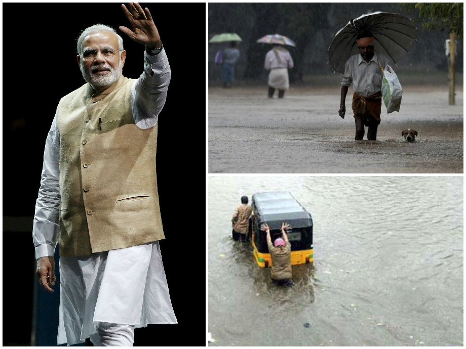 modi chennai floods