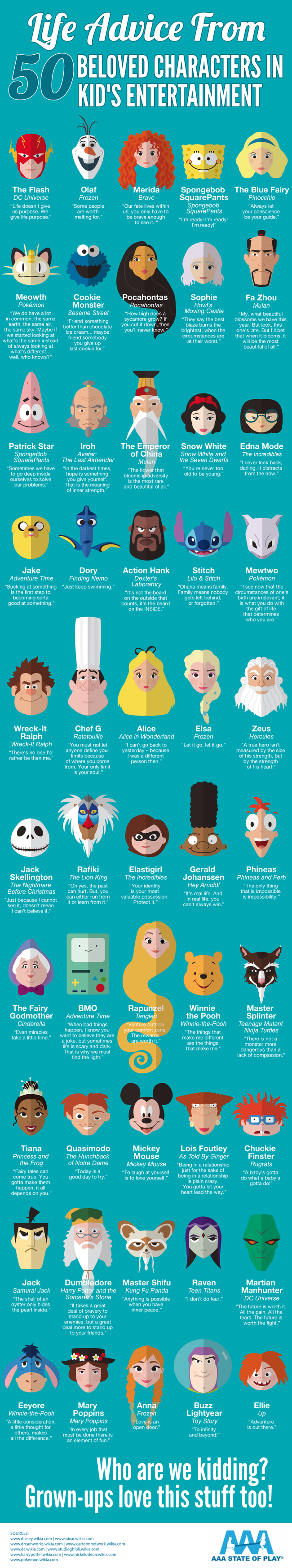 infographic animated heroes life lessons