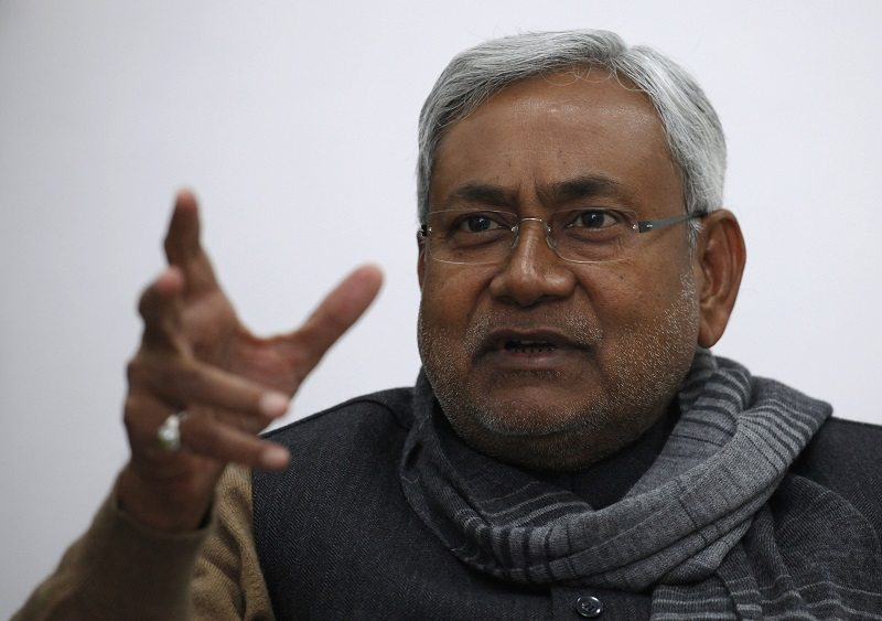 "Bihar's chief minister and leader of Janata Dal United party Nitish Kumar gestures during an interview with Reuters in the eastern Indian city of Patna January 8, 2012. When India launched reforms to open up its state-stifled economy 20 years ago, many states surged ahead, leaving behind the 3.5 percent ""Hindu rate of growth"" that had plagued the decades after the country's independence from Britain in 1947, and with it Bihar. Picture taken January 8, 2012. To match Insight INDIA-BIHAR/ REUTERS/Adnan Abidi (INDIA - Tags: POLITICS BUSINESS HEADSHOT) - RTR2X3NS"