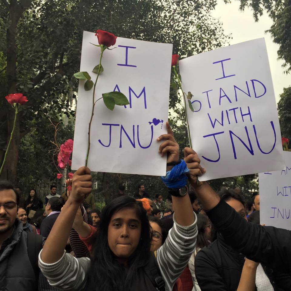 stand with jnu poster