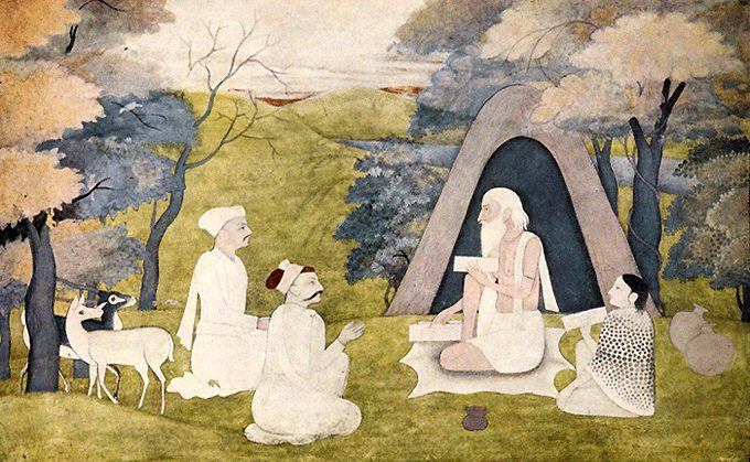 The_Poet_Valmiki,_teaching_Ramayana_to_Kusa_and_Lava
