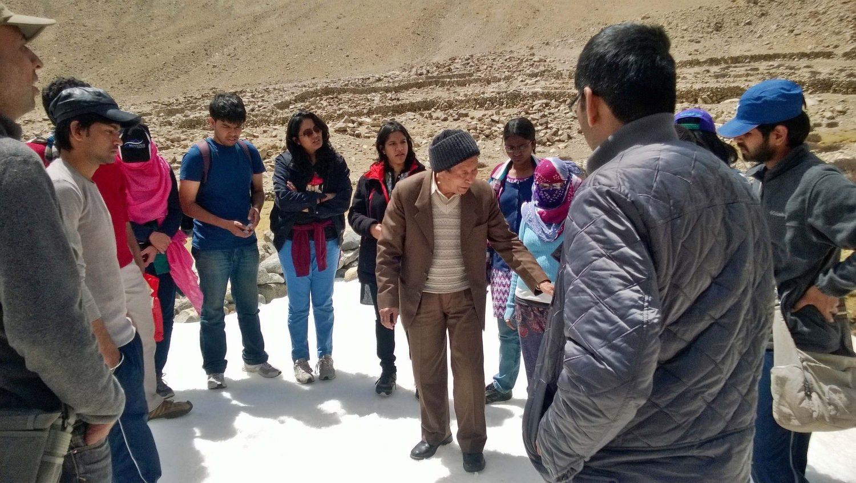 2014 Fellows During Travel Workshop To Ladakh With Padmashri Mr. Chawang Norphel - The Glacier Man