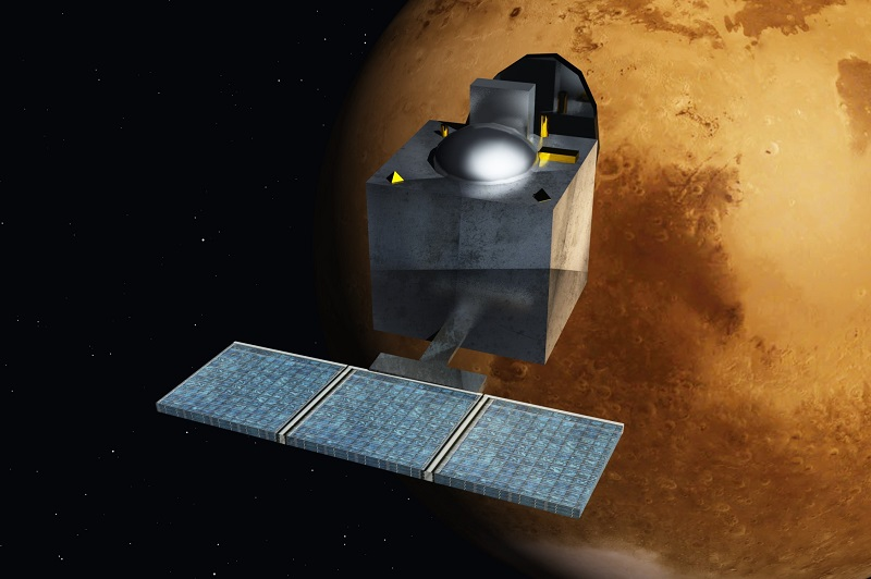 An artists rendition of the Mars Orbiter Mission