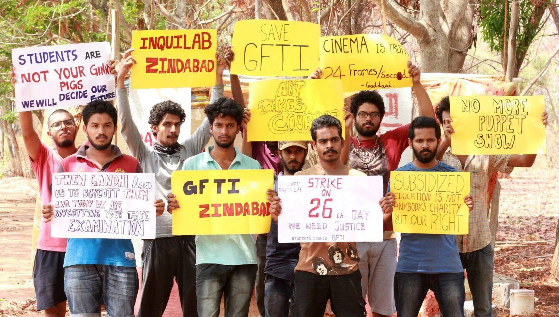 GFTI bangalore protest 1