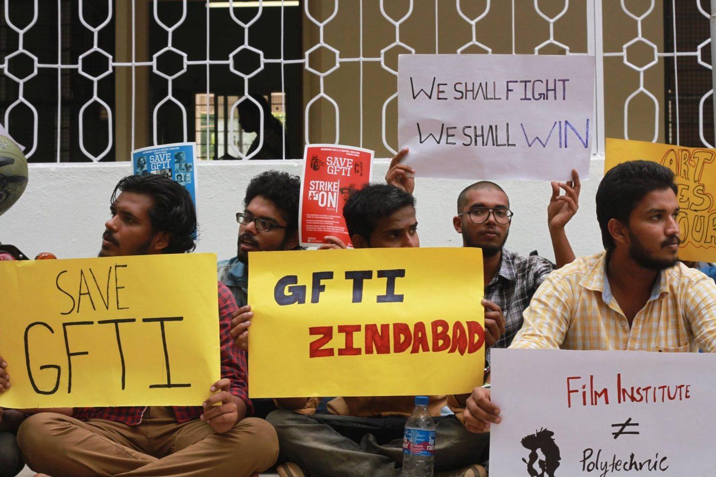 GFTI bangalore protest 2