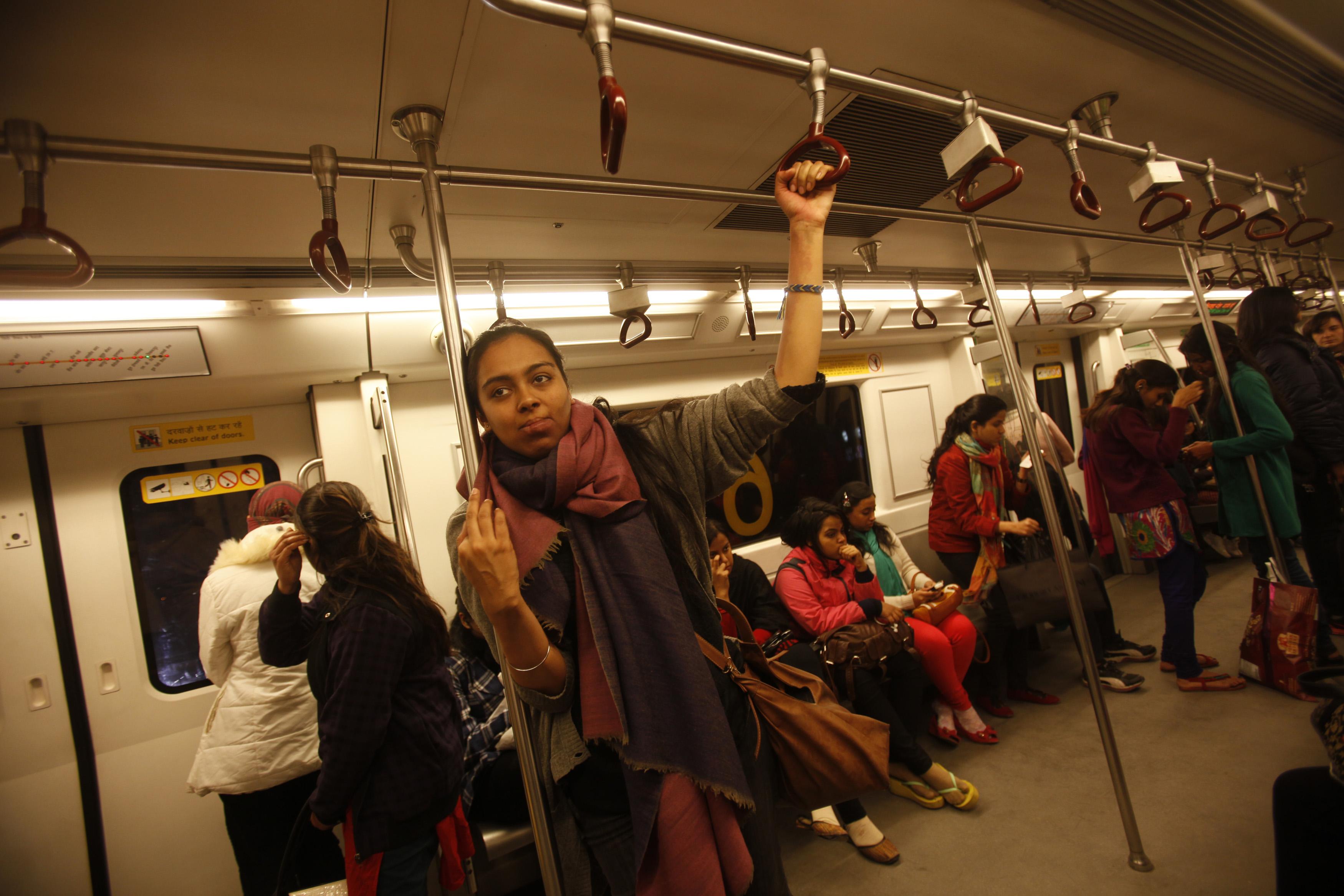 Ladies Compartment In Delhi Metro