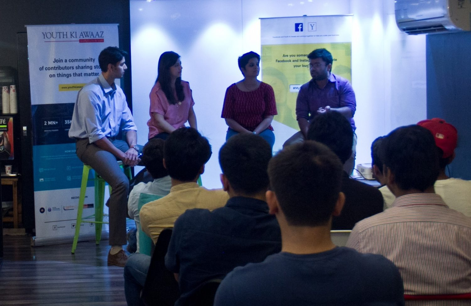 (Right to left): Mridang, Bayiravi and Rashi share their startup stories.