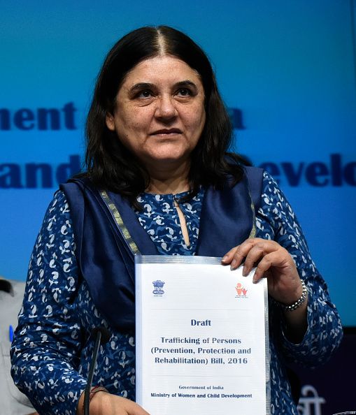 Union Women and Child Development Minister Maneka Gandhi Releases Draft Trafficking of Persons Bill