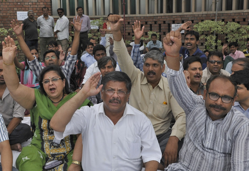 Protests Against FYUP In Delhi University
