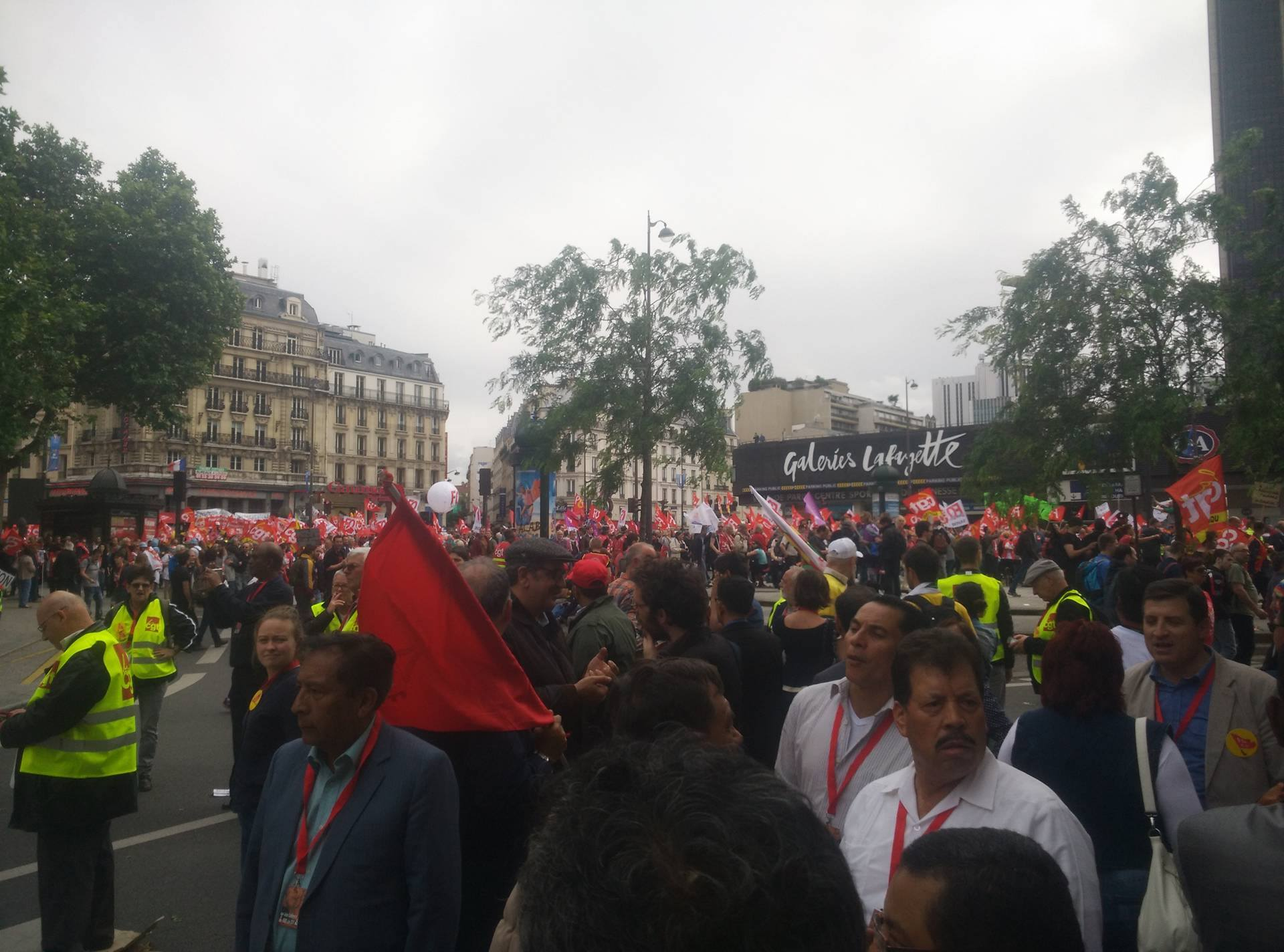 cgt france protest