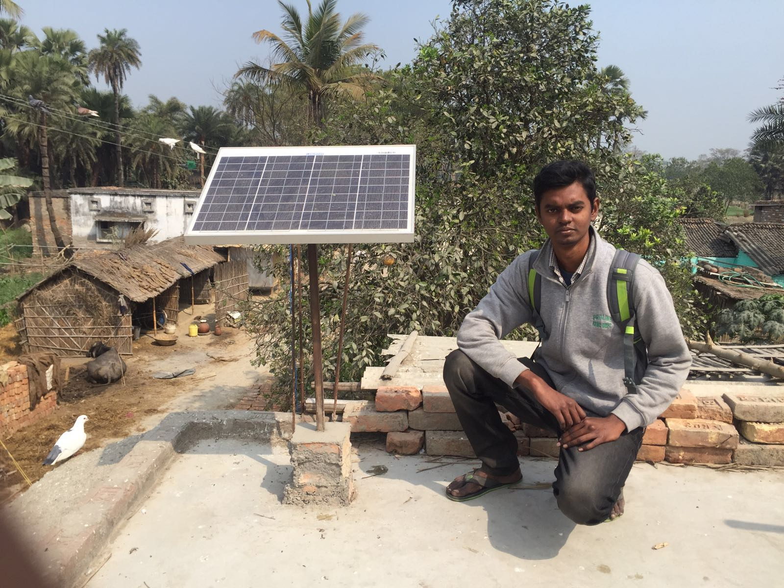 Sada with a solar panel