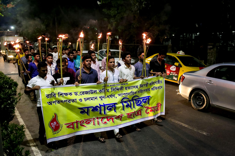 Protest against killing LGBT Magazine Editor