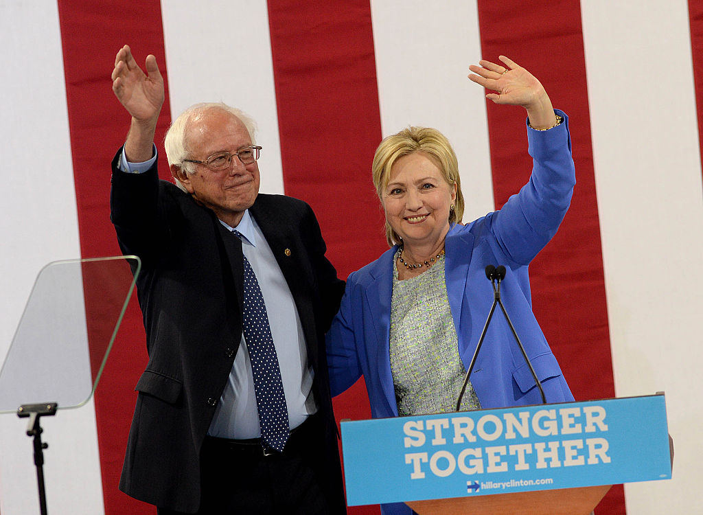 Bernie Sanders endorsed Hillary Clinton on July 12. Source: Darren McCollester/Getty Images