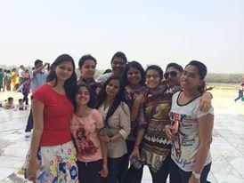 Vinayana at Taj mahal with her friends