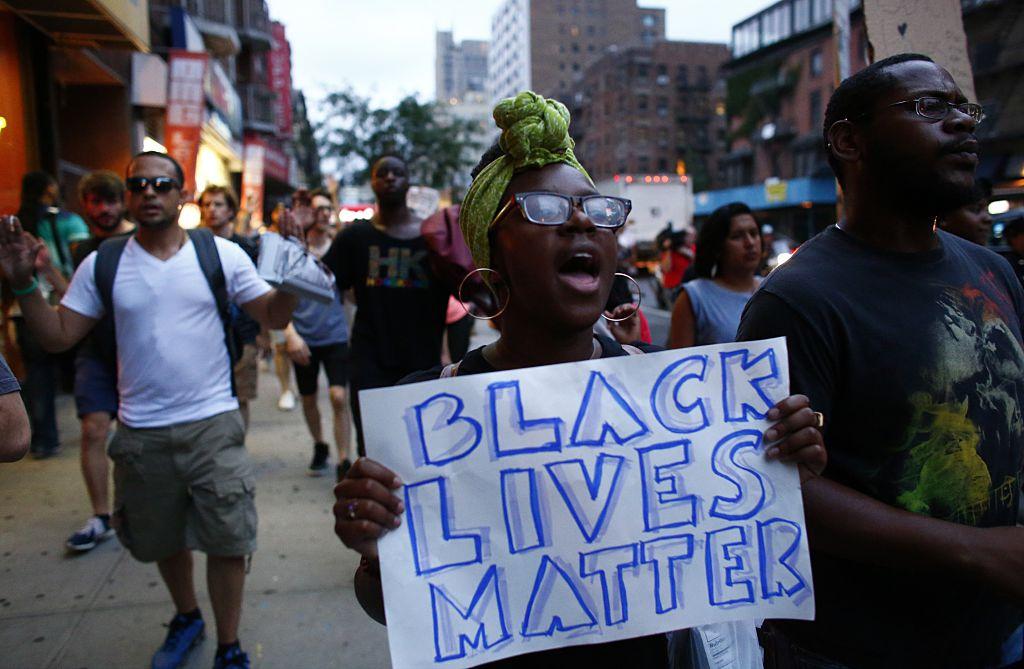 Black Lives Matter Demonstrators March In New York City