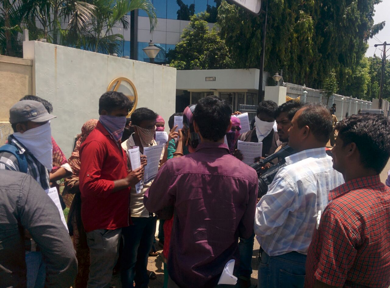 Protest outside L&T 3