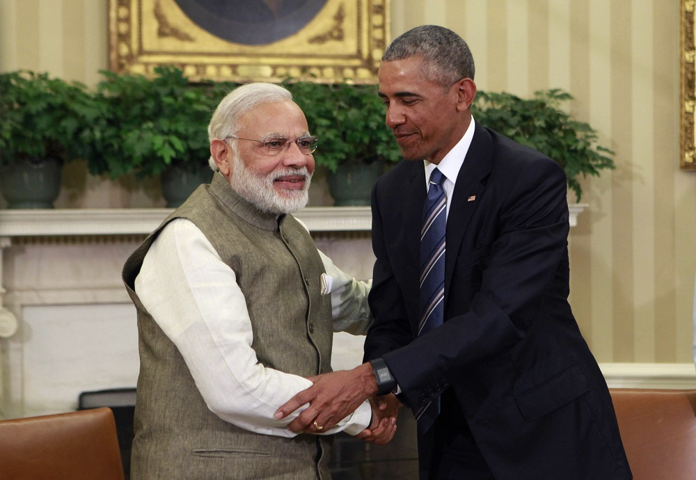 Indian PM Modi Meets With President Obama At The White House