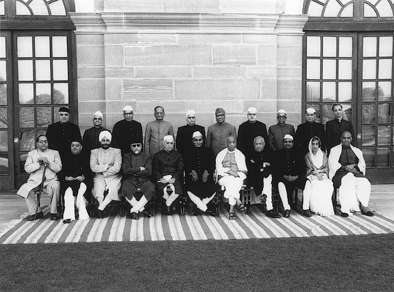 The first cabinet of independent India