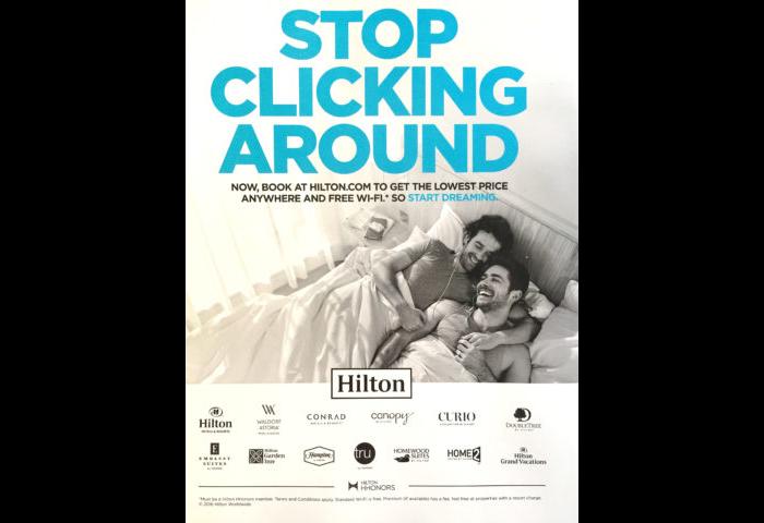 Hilton ad