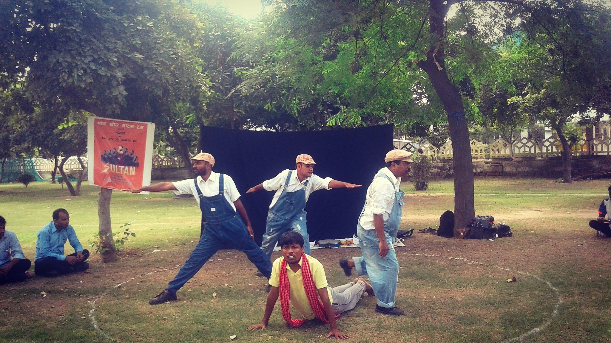 A street-play in progress in SPM Park, IMT Manesar, Photo credit: Abhishek Jha