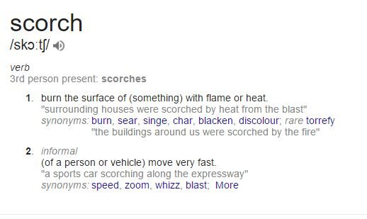 scorches-meaning