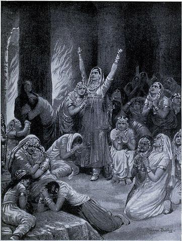 Jauhar of rajput women.