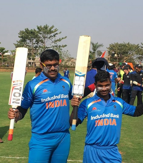 Captain Ajay Kumar Reddy with a team member
