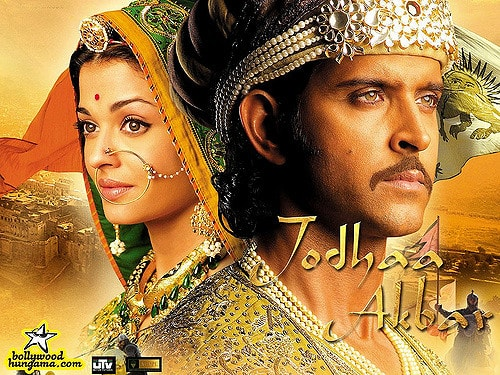 Poster of Jodha Akbar, a historical biopic with fictional insterludes