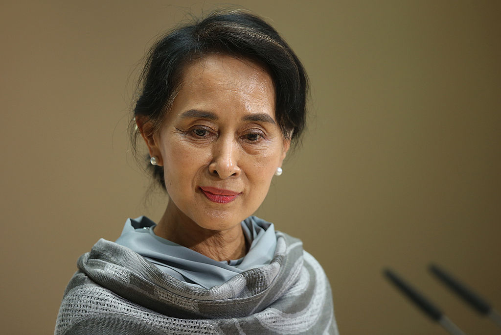 Myanmar human rights activist and politician Aung San Suu Kyi