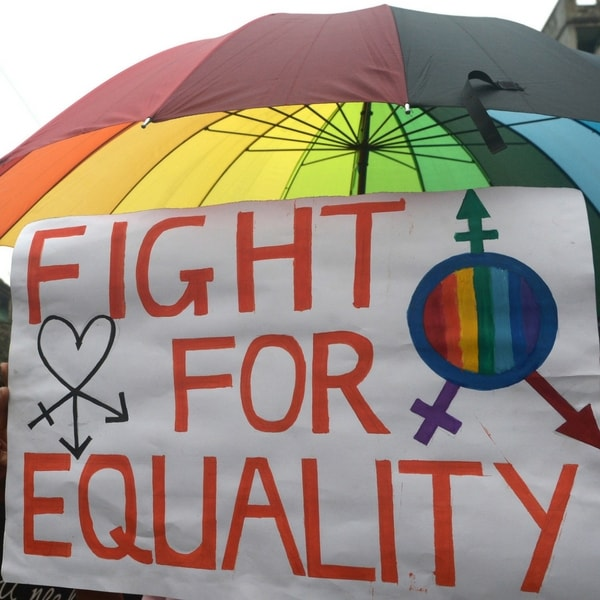 Indian members and supporters of the lesbian, gay, bisexual, transgender (LGBT) community attend a Rainbow Pride Walk in Kolkata on December 13, 2015. Marching in solidarity and in celebration of their diversity, the LGBT community demanded equal legal, social and medical rights.