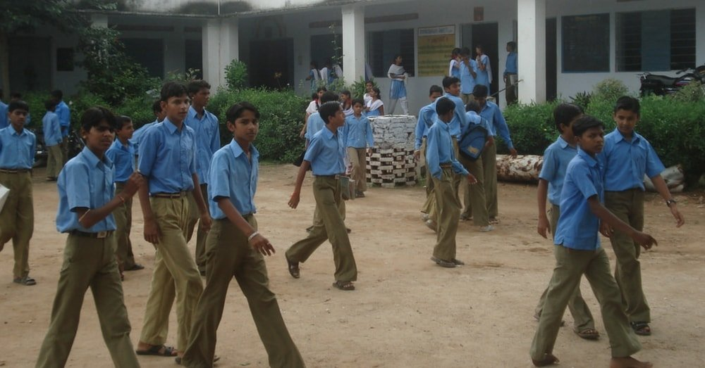 school children in a routine day in a rural setup