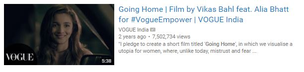 A must watch video | Going Home, by Vogue featuring Alia Bhatt