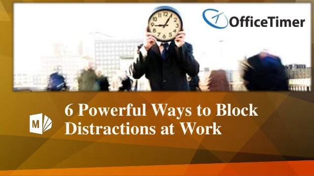 Timesheet software to block distractins