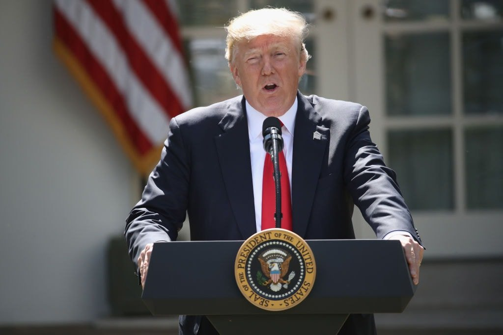 Donald Trump issues statement on pulling out of the Paris Climate Accord on June 1, 2017