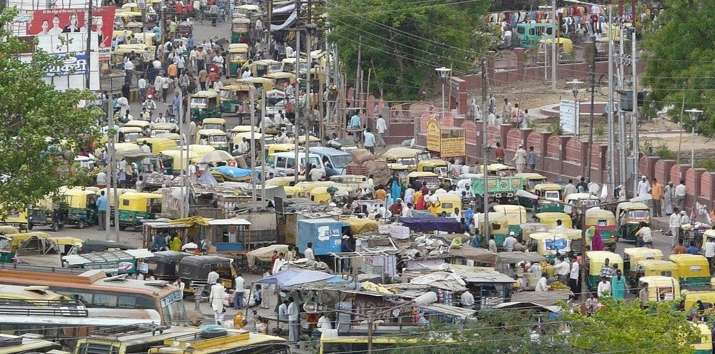 Heavy Traffic in an Indian mid size city
