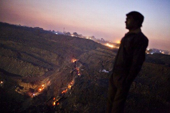 underground coal fire in jharia coal field