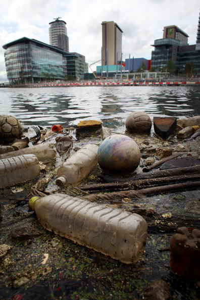 Rubbish Pollutes Manchester Ship Canal