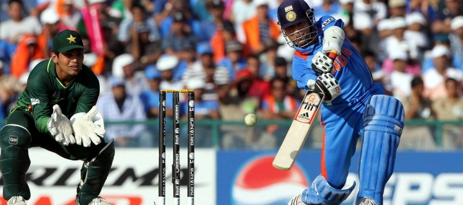 Sachin Tendulkar Playing Against Pakistan in 2011 Worldcup