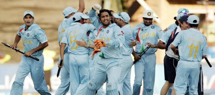 Indian Cricket Team After Winning 2007 T20 Worldcup