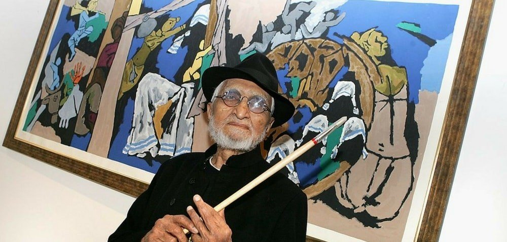Famous Indian Painter M.F. Hussain