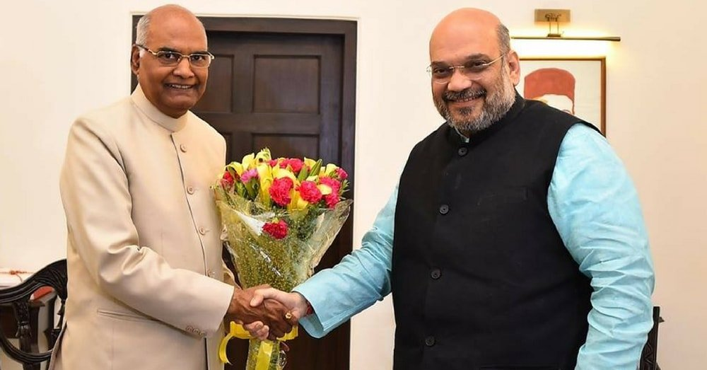 Amit Shah with BJP Presidential Candidate Ramnath Kovind