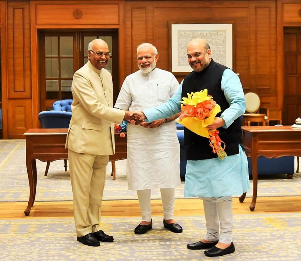 Narendra Modi and Amit Shah congratulate Ram Nath Kovind