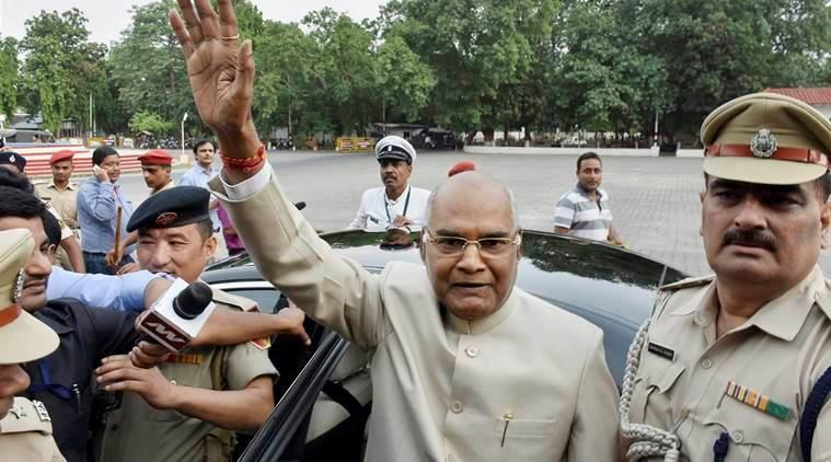 Ramnath Kovind The Presidential Candidate Waving At Media