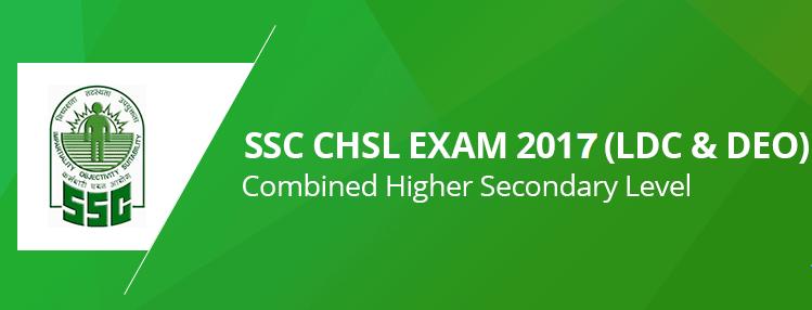 SSC CHSL 2017 Recruitment