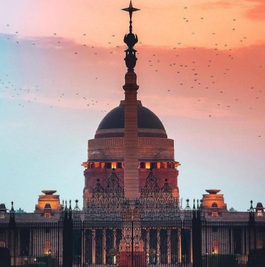 A View Of Rashtrapati Bhawan